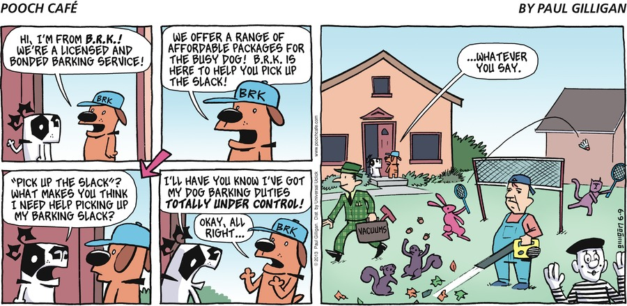 Pooch Cafe Comic Strip for June 09, 2013