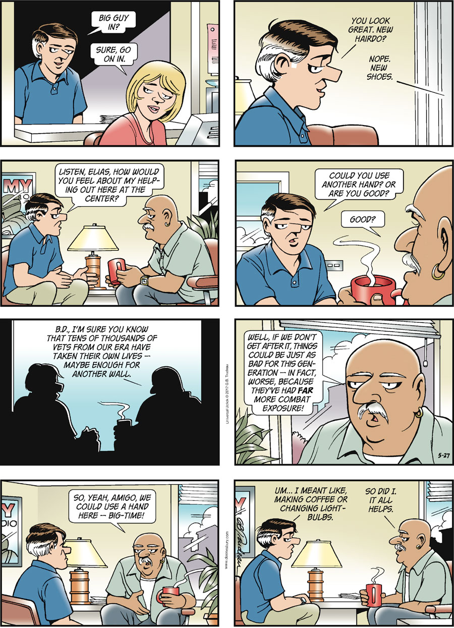 Doonesbury for May 27, 2012 Comic Strip
