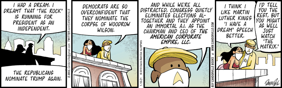 Candorville Comic Strip for January 18, 2021
