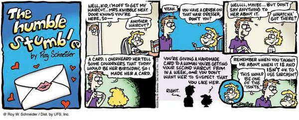 The Humble Stumble for Dec 2, 2012 Comic Strip