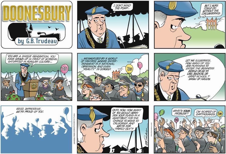 Doonesbury Comic Strip for May 22, 2005