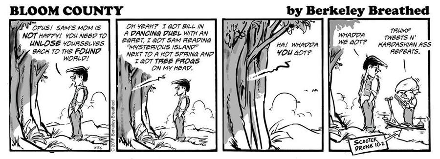 Bloom County 2018 by Berkeley Breathed for March 31, 2019