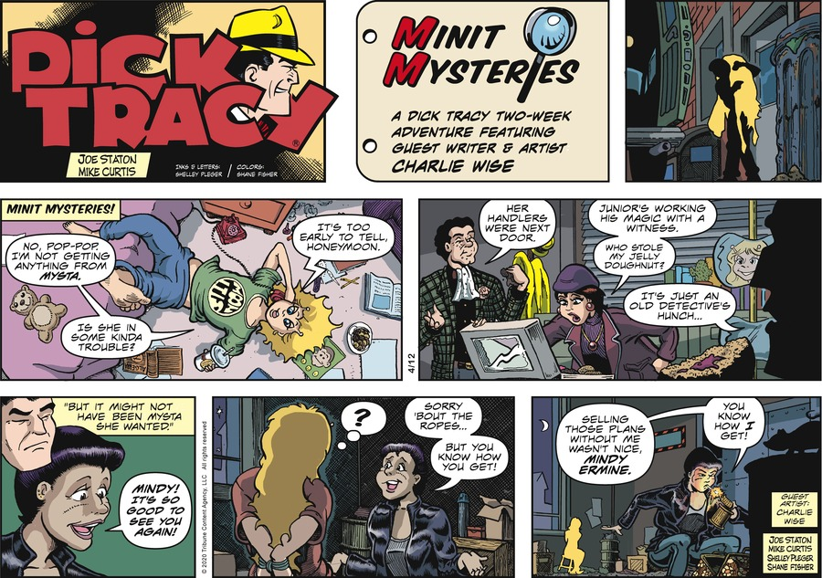 Dick Tracy Comic Strip for April 12, 2020