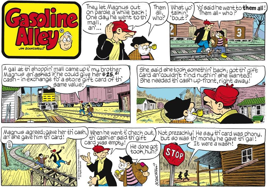 Gasoline Alley Comic Strip for November 16, 2014