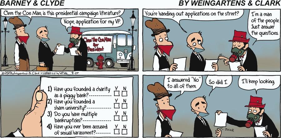 Barney & Clyde Comic Strip for September 27, 2020