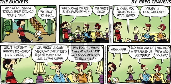 The Buckets - Sunday September 19, 2021 Comic Strip