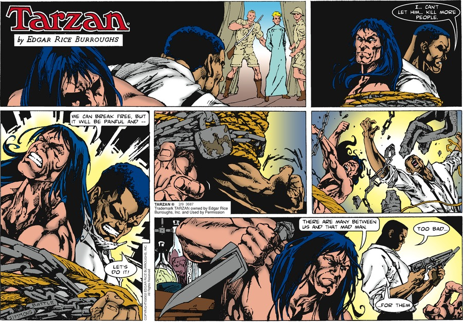 Tarzan Comic Strip for February 09, 2020