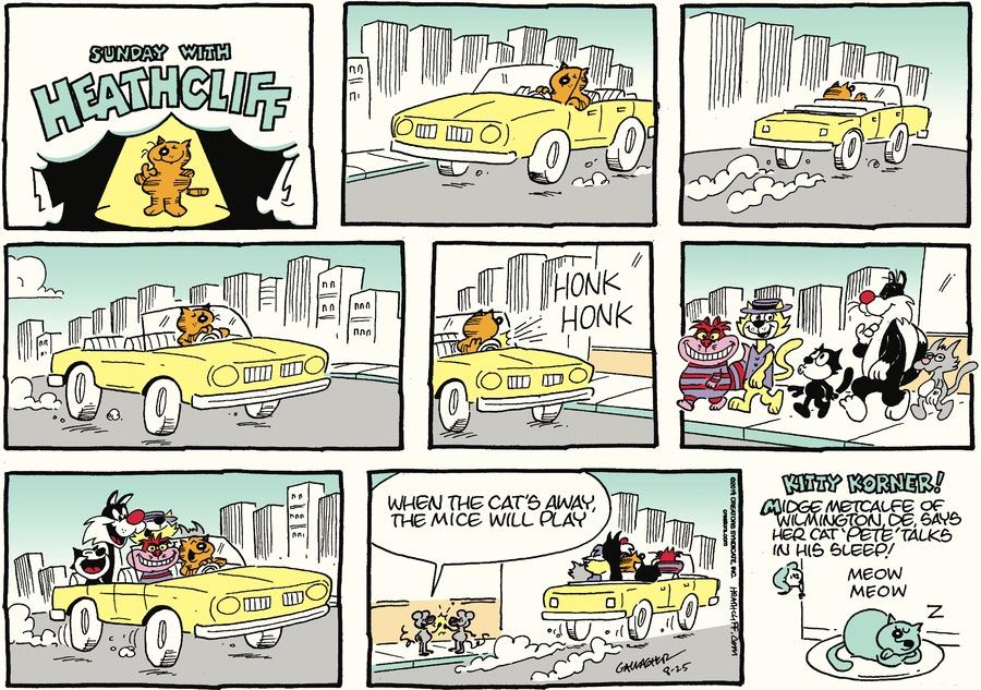 Heathcliff Comic Strip for August 25, 2019