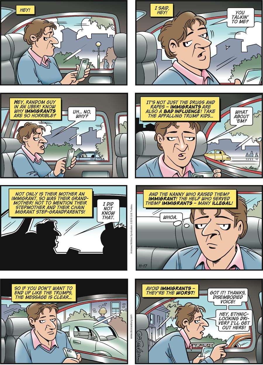 Doonesbury Comic Strip for November 17, 2019