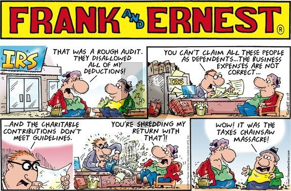Frank and Ernest on Sunday October 13, 2013 Comic Strip
