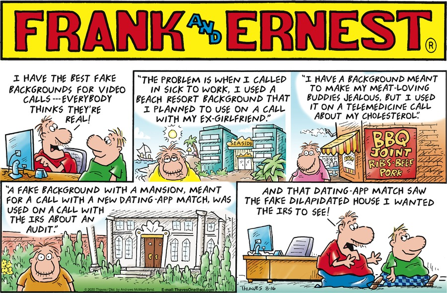 Frank and Ernest Comic Strip for August 16, 2020