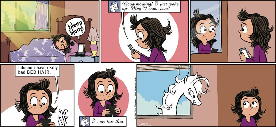 Phoebe and Her Unicorn for Apr 7, 2013 Comic Strip