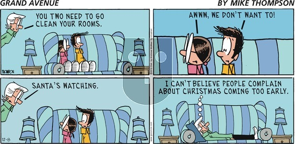 Grand Avenue on Sunday December 8, 2019 Comic Strip