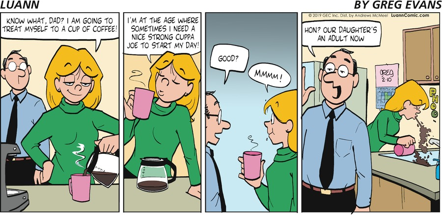 Luann Comic Strip for February 10, 2019