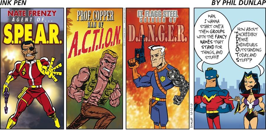 Ink Pen Comic Strip for October 10, 2010