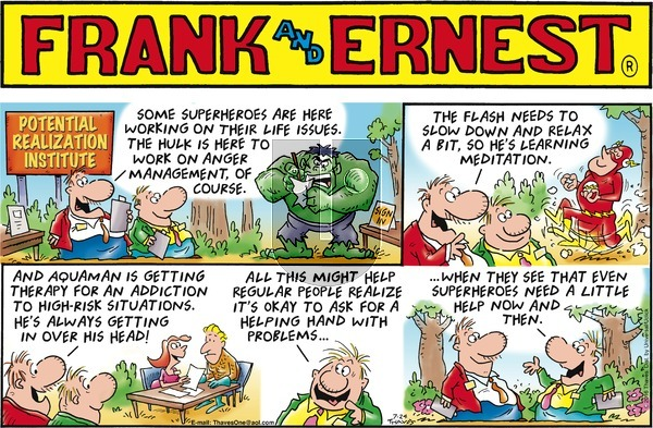Frank and Ernest on Sunday July 24, 2016 Comic Strip