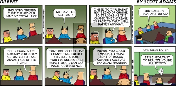 Dilbert on Sunday February 14, 2021 Comic Strip