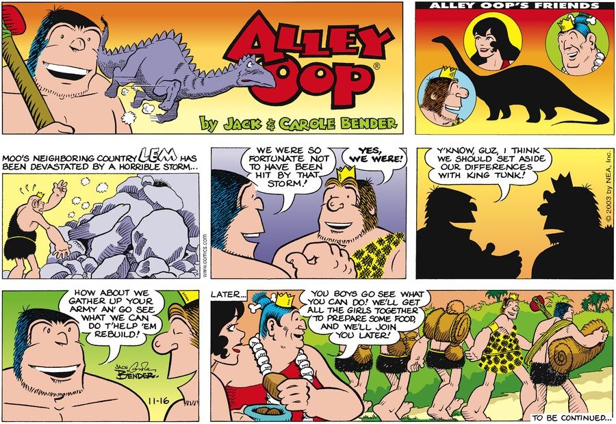 Alley Oop for Nov 16, 2003 Comic Strip