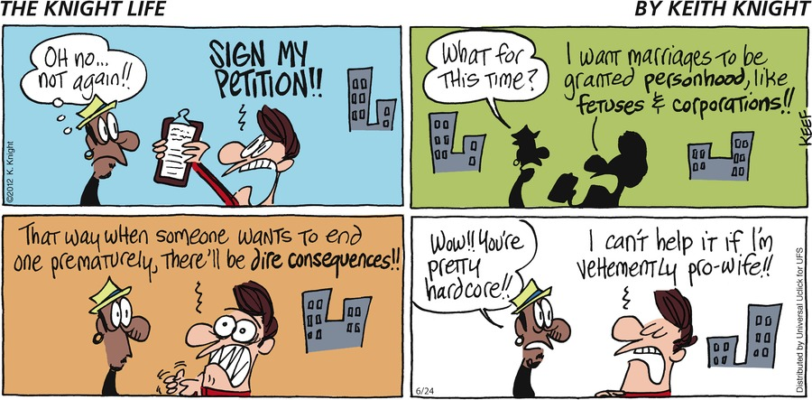 The Knight Life Comic Strip for June 24, 2012