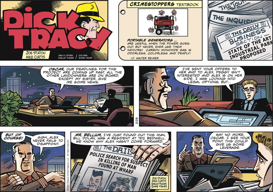 Dick Tracy Comic Strip for February 28, 2021