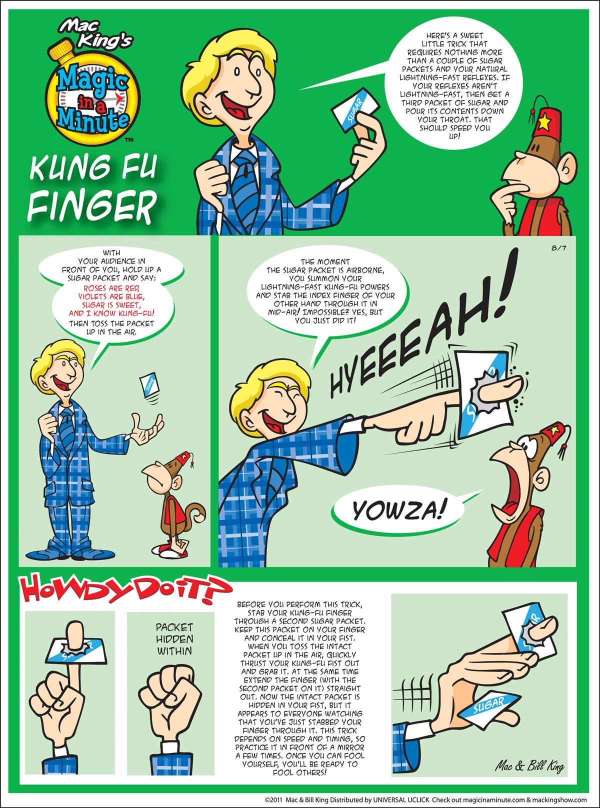 Magic in a Minute for Aug 7, 2011 Comic Strip