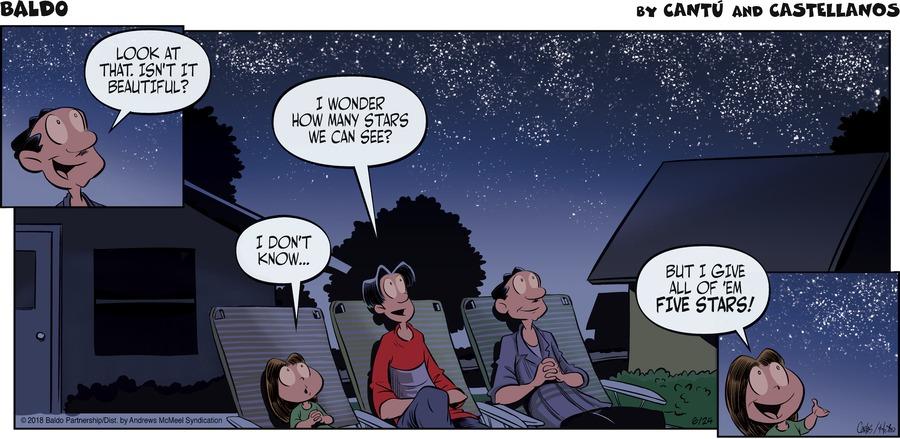 Baldo Comic Strip for June 24, 2018