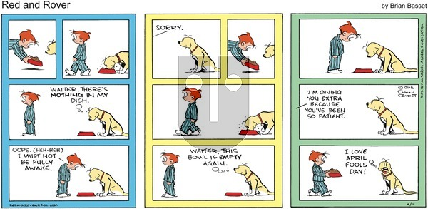 Red and Rover on Sunday April 1, 2018 Comic Strip