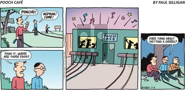 Pooch Cafe on Sunday July 5, 2015 Comic Strip