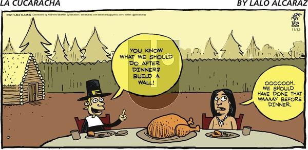 La Cucaracha on Sunday November 12, 2017 Comic Strip