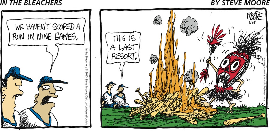 In the Bleachers for Aug 25, 2013 Comic Strip