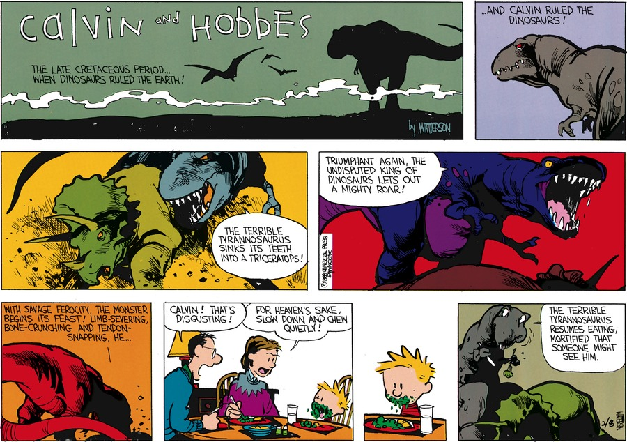 Calvin and Hobbes Comic Strip for March 13, 1988