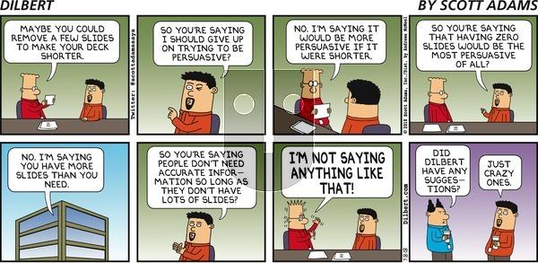Dilbert on Sunday July 8, 2018 Comic Strip