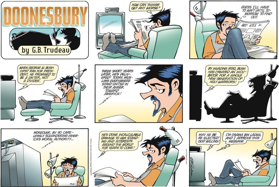 Doonesbury Comic Strip for July 11, 2004