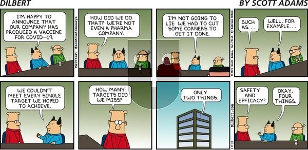 Dilbert on Sunday January 17, 2021 Comic Strip
