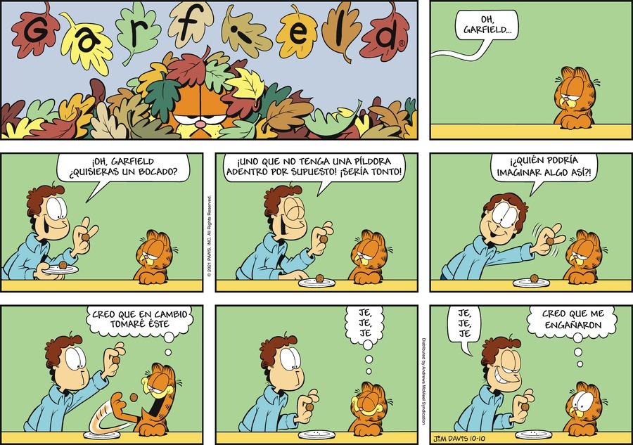 Garfield en Español Comic Strip for October 10, 2021