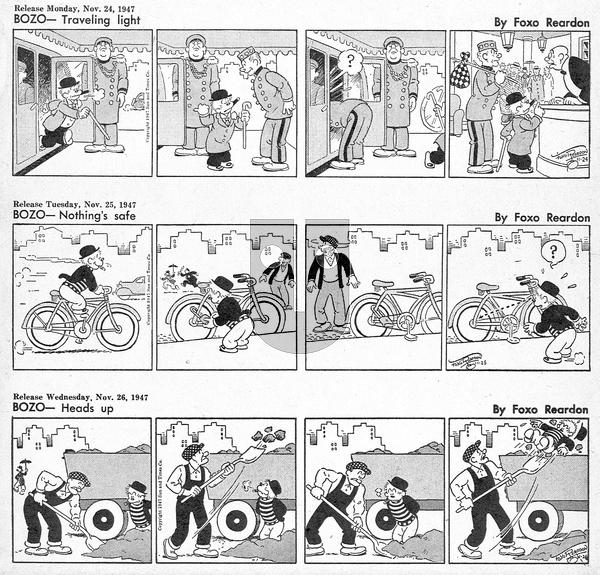 Bozo - Monday November 24, 1947 Comic Strip