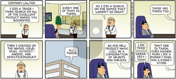 Dilbert - Sunday April 15, 2007 Comic Strip
