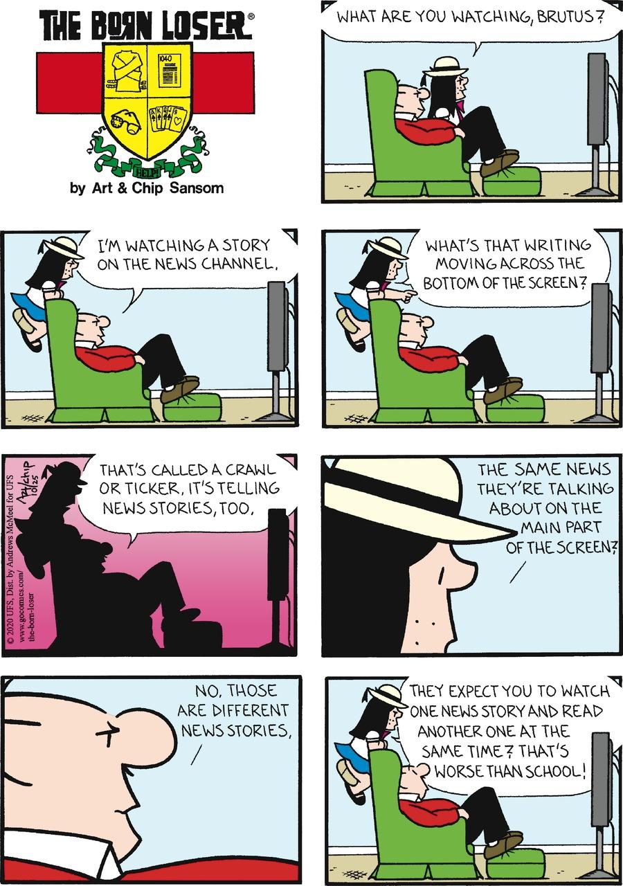 The Born Loser Comic Strip for October 25, 2020