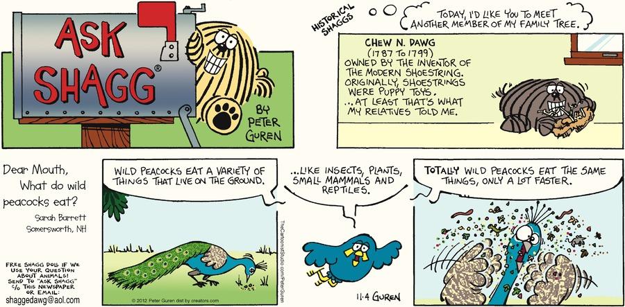 Ask Shagg for Nov 4, 2012 Comic Strip