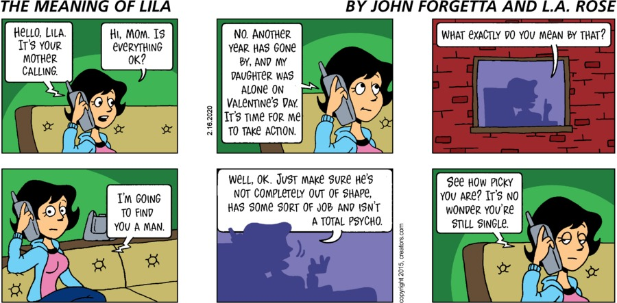 The Meaning of Lila Comic Strip for February 16, 2020