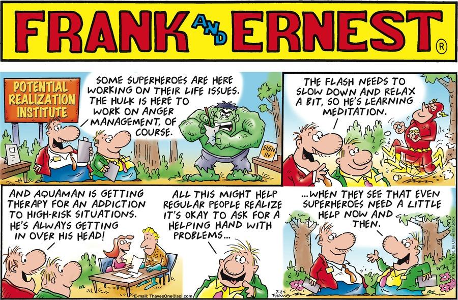 Frank and Ernest for Jul 24, 2016 Comic Strip