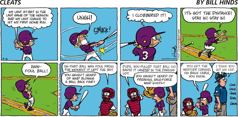 Cleats Comic Strip for June 06, 2004