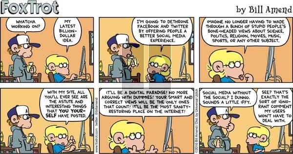 FoxTrot on Sunday January 31, 2016 Comic Strip