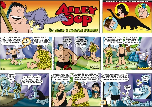 Alley Oop on Sunday May 22, 2016 Comic Strip