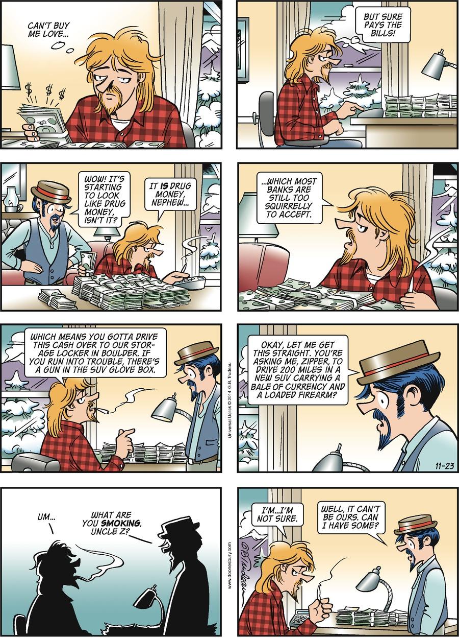 Doonesbury Comic Strip for November 23, 2014