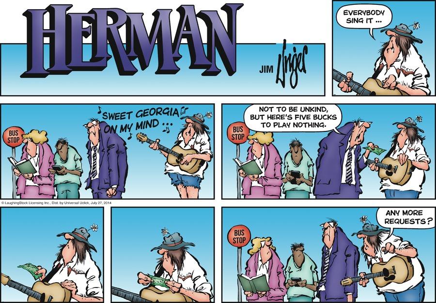 Herman Comic Strip for July 27, 2014
