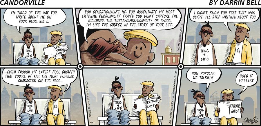 Candorville for Mar 9, 2014 Comic Strip