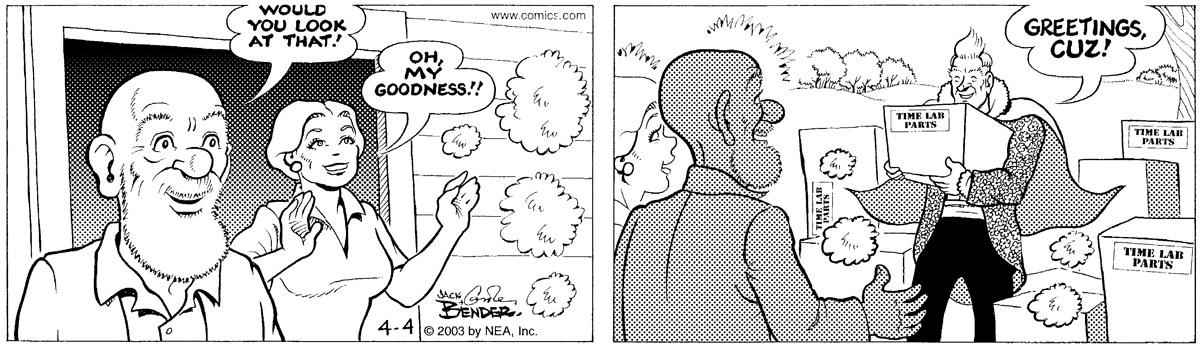 Alley Oop for Apr 4, 2003 Comic Strip
