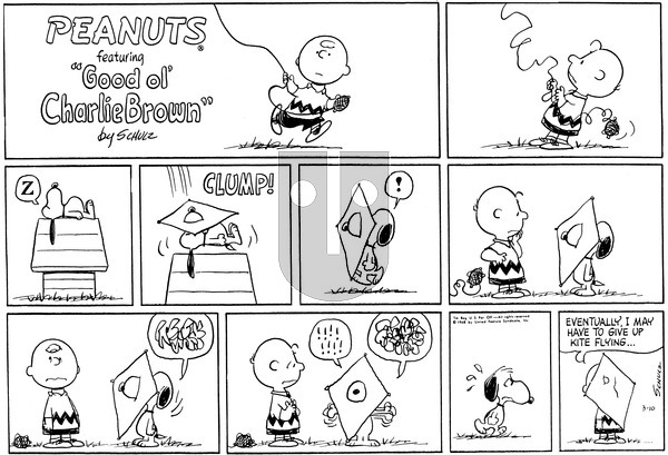 Peanuts on Sunday March 10, 1968 Comic Strip