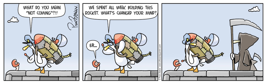 Ollie and Quentin for Dec 15, 2012 Comic Strip